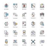 Εικονίδια δικτύων και επικοινωνίας καθορισμένα Στοκ φωτογραφία με δικαίωμα ελεύθερης χρήσης