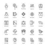 Εικονίδια δικτύων και επικοινωνίας καθορισμένα Στοκ εικόνες με δικαίωμα ελεύθερης χρήσης