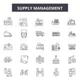 Εικονίδια διοικητικών γραμμών ανεφοδιασμού, σημάδια, διανυσματικό σύνολο, έννοια απεικόνισης περιλήψεων απεικόνιση αποθεμάτων