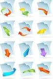 εικονίδια εγγράφων Στοκ Εικόνες