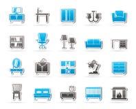 Εικονίδια εξοπλισμού επίπλων και σπιτιών Στοκ εικόνες με δικαίωμα ελεύθερης χρήσης