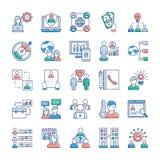 Εικονίδια επιχειρήσεων και εργασιών καθορισμένα ελεύθερη απεικόνιση δικαιώματος
