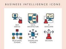 Εικονίδια επιχειρηματικής κατασκοπείας Στοκ Εικόνες