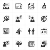 εικονίδια επιχειρησιακής απασχόλησης Στοκ Εικόνες