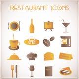Εικονίδια εστιατορίων Στοκ φωτογραφία με δικαίωμα ελεύθερης χρήσης