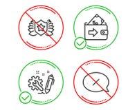 Εικονίδια εφαρμοσμένης μηχανικής, πορτοφολιών και δαφνοστεφών καθορισμένα Σημάδι απορριμάτων Κατασκευή, πληρωμή χρημάτων, ασπίδα  ελεύθερη απεικόνιση δικαιώματος