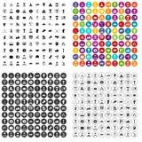 100 εικονίδια ηγεσίας καθορισμένα τη διανυσματική παραλλαγή απεικόνιση αποθεμάτων