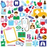 εικονίδια ιατρικά Στοκ φωτογραφία με δικαίωμα ελεύθερης χρήσης