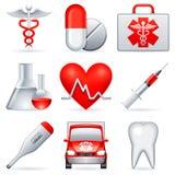εικονίδια ιατρικά Στοκ Εικόνα