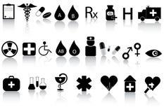 εικονίδια ιατρικά Στοκ φωτογραφίες με δικαίωμα ελεύθερης χρήσης