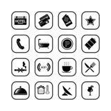 εικονίδια ΙΙ σειρά W ξενο&de Διανυσματική απεικόνιση
