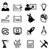 Εικονίδια Ιστού εφαρμοσμένης μηχανικής και σχεδίου Στοκ φωτογραφία με δικαίωμα ελεύθερης χρήσης