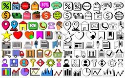 100 εικονίδια Ιστού PC καθορισμένα ελεύθερη απεικόνιση δικαιώματος