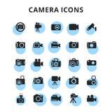 Εικονίδια καμερών καθορισμένα Στοκ φωτογραφίες με δικαίωμα ελεύθερης χρήσης