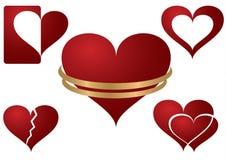 εικονίδια καρδιών Στοκ Εικόνες