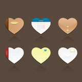εικονίδια καρδιών Στοκ Φωτογραφία