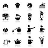εικονίδια καφέδων που τί&thet Στοκ Φωτογραφία