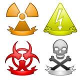 εικονίδια κινδύνου εμβ&lambd απεικόνιση αποθεμάτων