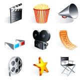 Εικονίδια κινηματογράφων. ελεύθερη απεικόνιση δικαιώματος