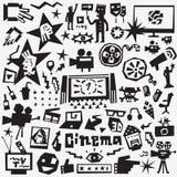 εικονίδια κινηματογράφω& Στοκ Εικόνα