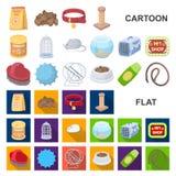 Εικονίδια κινούμενων σχεδίων καταστημάτων της Pet στην καθορισμένη συλλογή για το σχέδιο Τα αγαθά για τη διανυσματική απεικόνιση  ελεύθερη απεικόνιση δικαιώματος