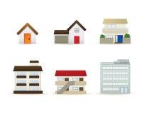 εικονίδια κτηρίων ελεύθερη απεικόνιση δικαιώματος