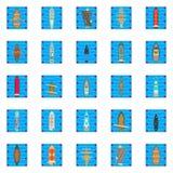Εικονίδια κόλπων καθορισμένα, isometric ύφος απεικόνιση αποθεμάτων