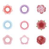 εικονίδια λουλουδιών Στοκ Εικόνα