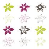 εικονίδια λουλουδιών Στοκ εικόνα με δικαίωμα ελεύθερης χρήσης