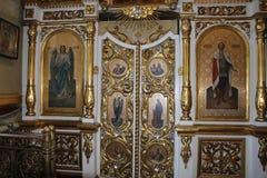 Εικονίδια μέσα στη Ορθόδοξη Εκκλησία Στοκ Εικόνα