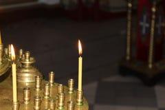 Εικονίδια μέσα στη Ορθόδοξη Εκκλησία Στοκ εικόνα με δικαίωμα ελεύθερης χρήσης