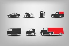Εικονίδια μεταφορών απεικόνιση αποθεμάτων