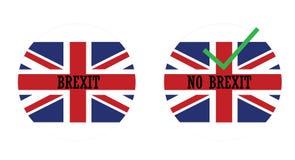 Εικονίδια με την αγγλική σημαία και brexit διανυσματική απεικόνιση