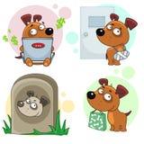Εικονίδια με το μέρος 13 σκυλιών Στοκ εικόνα με δικαίωμα ελεύθερης χρήσης