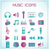 Εικονίδια μουσικής Στοκ Εικόνες