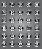 εικονίδια μπουκλών αρχι&ka Στοκ εικόνες με δικαίωμα ελεύθερης χρήσης