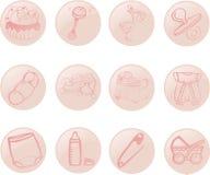 εικονίδια μωρών στοκ φωτογραφία με δικαίωμα ελεύθερης χρήσης