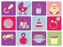 εικονίδια μωρών Στοκ Εικόνα