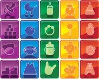 εικονίδια μωρών Στοκ εικόνες με δικαίωμα ελεύθερης χρήσης