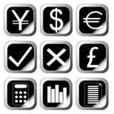 εικονίδια νομίσματος Στοκ φωτογραφίες με δικαίωμα ελεύθερης χρήσης