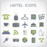 Εικονίδια ξενοδοχείων Στοκ φωτογραφία με δικαίωμα ελεύθερης χρήσης