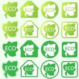 εικονίδια οικολογίας που τίθενται διάνυσμα στοιχείων eco σχε&delt επίσης corel σύρετε το διάνυσμα απεικόνισης Στοκ Εικόνα