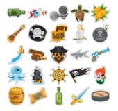 Εικονίδια πειρατών Στοκ Εικόνα
