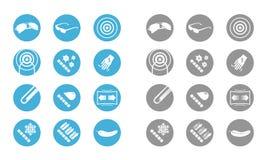 Εικονίδια περιγραφής των γυαλιών (γκρίζο μπλε) Στοκ Εικόνα