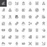 Εικονίδια περιλήψεων cryptocurrency Bitcoin καθορισμένα διανυσματική απεικόνιση