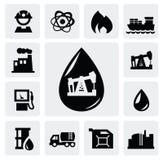 Εικονίδια πετρελαίου απεικόνιση αποθεμάτων