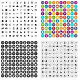 100 εικονίδια ποδηλάτων καθορισμένα τη διανυσματική παραλλαγή Στοκ φωτογραφίες με δικαίωμα ελεύθερης χρήσης