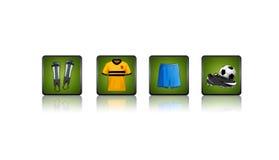 εικονίδια ποδοσφαίρου Στοκ εικόνα με δικαίωμα ελεύθερης χρήσης
