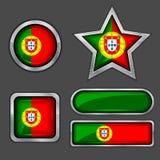 εικονίδια Πορτογαλία σημαιών συλλογής Στοκ εικόνα με δικαίωμα ελεύθερης χρήσης