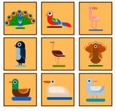 Εικονίδια πουλιών διανυσματική απεικόνιση